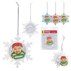 Christmas Tree Light-Up Hanging Snowflake Photo Ornament #1776X