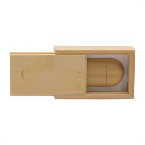 Wooden Bamboo USB Thumb Drive Case Holder #TRI-172