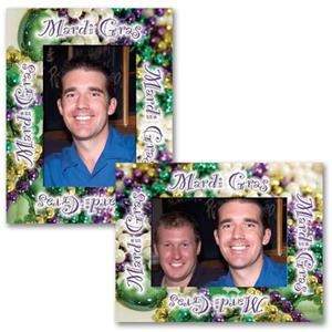 Mardi Gras Celebration Party Paper Frame Easels for 4