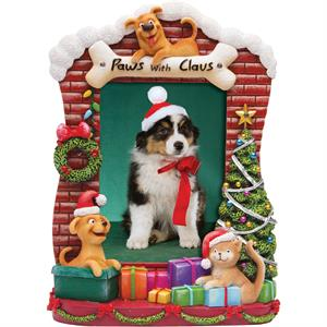 Light-Up-Paws-with-Claus-Resin-Picture-Frame-#L6357X13