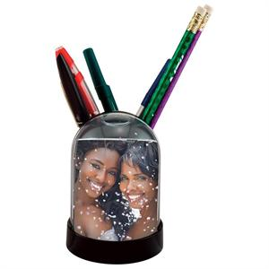 Pencil Cup Photo Snow Globe with Insert Size: 2