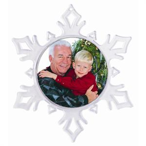 do it yourself photo christmas snowflake photo ornament - Christmas Tree Ornaments Wholesale