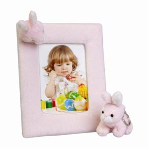 Easter Bunny Pink Soft Touch 3-1/2x5 Photo Picture Frame