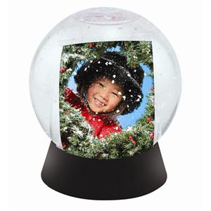 Best Selling Do-It-Yourself Photo Snowglobe Picture Frame with Black Base #2721
