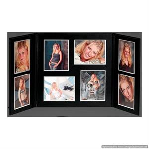 TAP Achievement Folio 4x5 Senior Graduation Black / Black / Satin