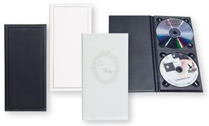 Topflight Double Vertical CD Leather Album Case