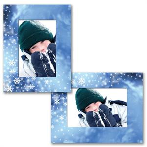 Winter Wonderland Snowflakes Paper Frame Photo Easels