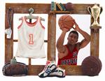Sports 3-1/2x5 Resin Molded Basketball Digital Athletic Picture Frame