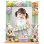 Easter Bunny with Eggs 5x7 Resin Photo Frame