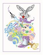 Easter Bunny Artist Paper Frame Photo Mount Folders for 3