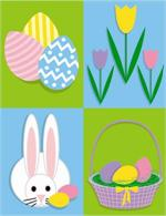 Easter Bunny with Eggs 4x6 or 5x7 Photo Mount Folders #3041