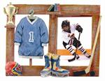Sports Room 3-1/2x5 Resin Hockey Digital Picture Frame for Kids