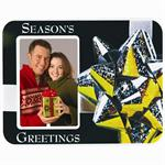 Puff Picture Frame Season's Greetings Easel Magnetic Back for 2-1/2