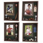 Sports Room Box Frames for Baseball, Football, Soccer, and Basketball Sports