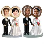 Bobbleheads Wedding Couple Novelty Do-It-Yourself Photo Bobble Heads
